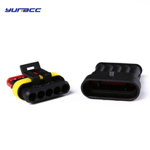 2sets 5Pins Male Female Automotive Cable Connector Plug superseal 1.5 Series 282089-1 282107-1