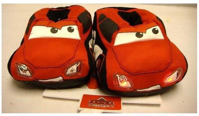 2015 Клиренс Дети главная хлопок Автомобилей Тапочки Дети Детская обувь мягкое дно все включено с теплые тапочки Flash F160