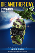 Nuevo 2016 Últimas Forma bombardero Stealth avión Aviones Deportes LED Digital Fecha Cronógrafo Reloj relojes militares de Camuflaje