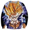 Teen Spirit Футболка Dragon Ball Z Классический мультфильм Wukong супер саян 3d Печати Толстовки Женщины Мужчины Модной Одежды Перемычки