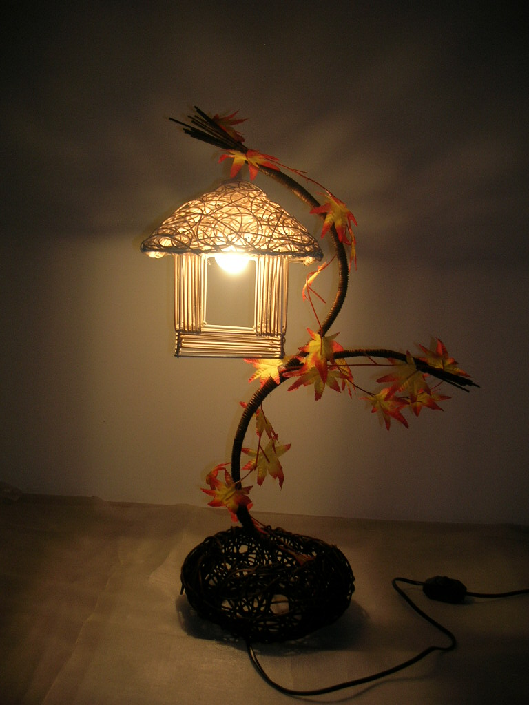 Rattan Table Lamp Bedside Lighting Bedroom Lamp Decorative