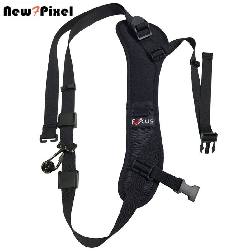 цена на Focus F-1 Quick Rapid Carry Speed Soft Pro Shoulder Sling Belt Neck Strap For Camera SLR DSLR Black