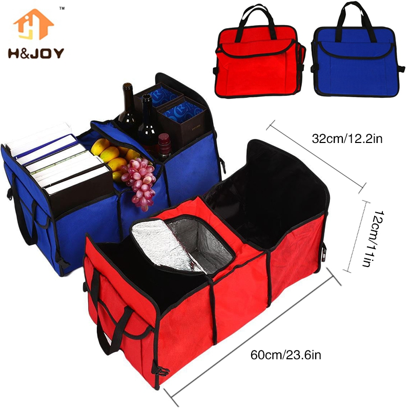 Hot Sale Car Trunk Organizer Bag Travel Storage Bag Food Cooler Box Car Stowing Styling Waterproof Interior Cargo Container