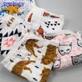 Súper suave patrón cute100 % algodón Muselina de gasa 3 capas de bebé toalla de baño del bebé toalla de mano pañuelo recién nacido pequeña cara toalla
