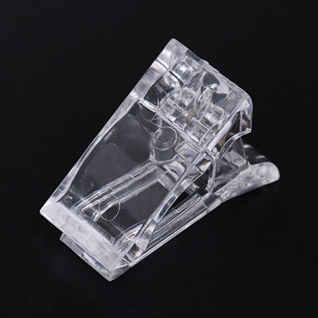Hot Sale Nail Tips Clip Transparent Finger Poly Quick Building Gel Extension Nails Art Manicure Tool JLRS 2018