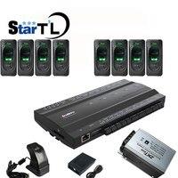 Inbio460 fingeprint rfid карты доступа к панели управления четыре двери доступа Системы + FR1200 сканер отпечатков пальцев + 12V5A Питание
