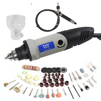 400W Mini Electric Drill For Dremel With 6 Position Variable Speed Dremel Style Rotary Tools Mini Grinding Power Tools