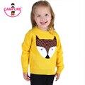 Campure 2016 Boys Suéter Niñas Otoño/Invierno Suéteres de Los Niños Del Desgaste Caliente Fox Cartoon Jerseys Abrigos Suéter Del Bebé