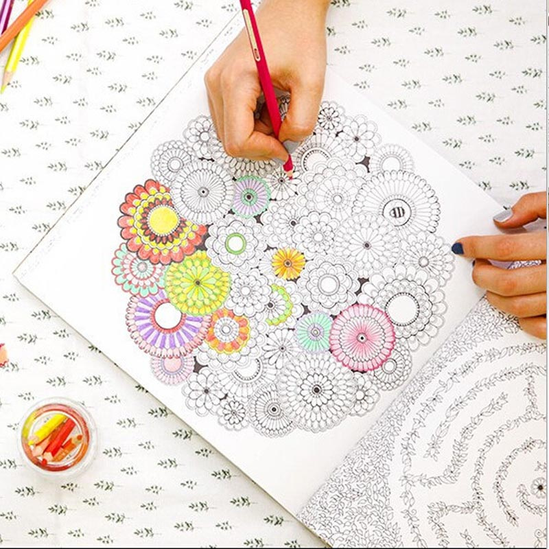 Secret Garden Cafe Women Lady Girls Adult Child Coloring Book 1PC Best Christmas Gif T Free Pencil In Books From Office School Supplies On Aliexpress