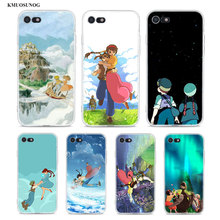 купить Transparent Soft Silicone Phone Case Laputa Castle in the Sky for iPhone XS X XR Max 8 7 6 6S Plus 5 5S SE по цене 91.83 рублей