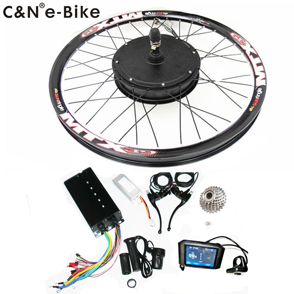 2019 High Speed 72v 3000w Electric Motorcycle Kit 3kw Electric bike conversion kit with TFT Display