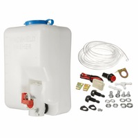 New Universal Car Windscreen Washer Bottle Kit With Pump Hose Jet Button Wiring Switch 12V