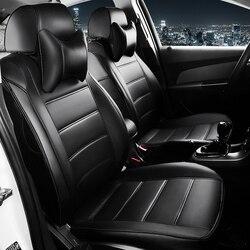 Кожаные чехлы для автомобильных сидений на заказ для Volkswagen vw passat b5 polo golf tiguan jetta touran, подушка для автомобильных сидений