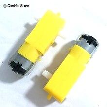 2 шт. TT Мотор 130 мотор умный автомобиль робот мотор-редуктор DC3V-6V DC мотор-редуктор интеллектуальное автомобильное шасси четыре привода автомобиля горячая распродажа
