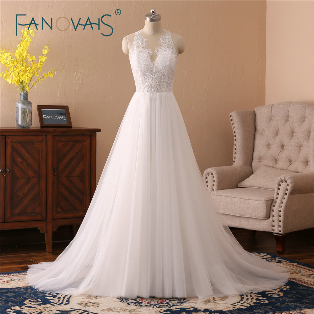buy lace wedding dresses robe de mariee simple tulle wedding gowns vestido de