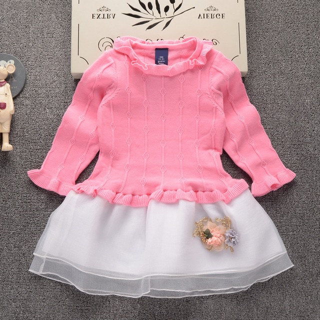 b857d3cc0 2019 Autumn Winter New fashion Girls sweater dress Kids Baby Sweater ...