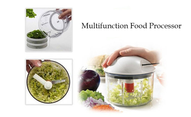 Genial Food Processor Multifunction Vegetable Cutter Grater Slice Blend Chop SPIN  DRY Mix Store Kitchen Helper K022