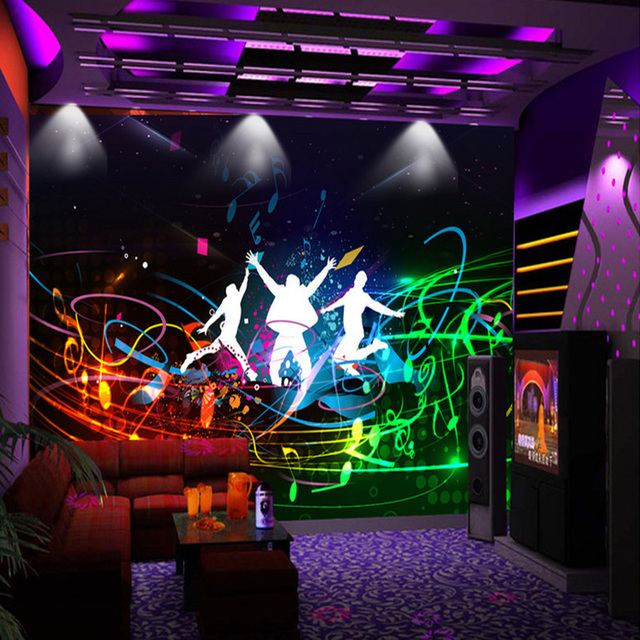 Bar Wallpaper: Custom Modern Fashion Style Wall Painting Bar KTV Wall