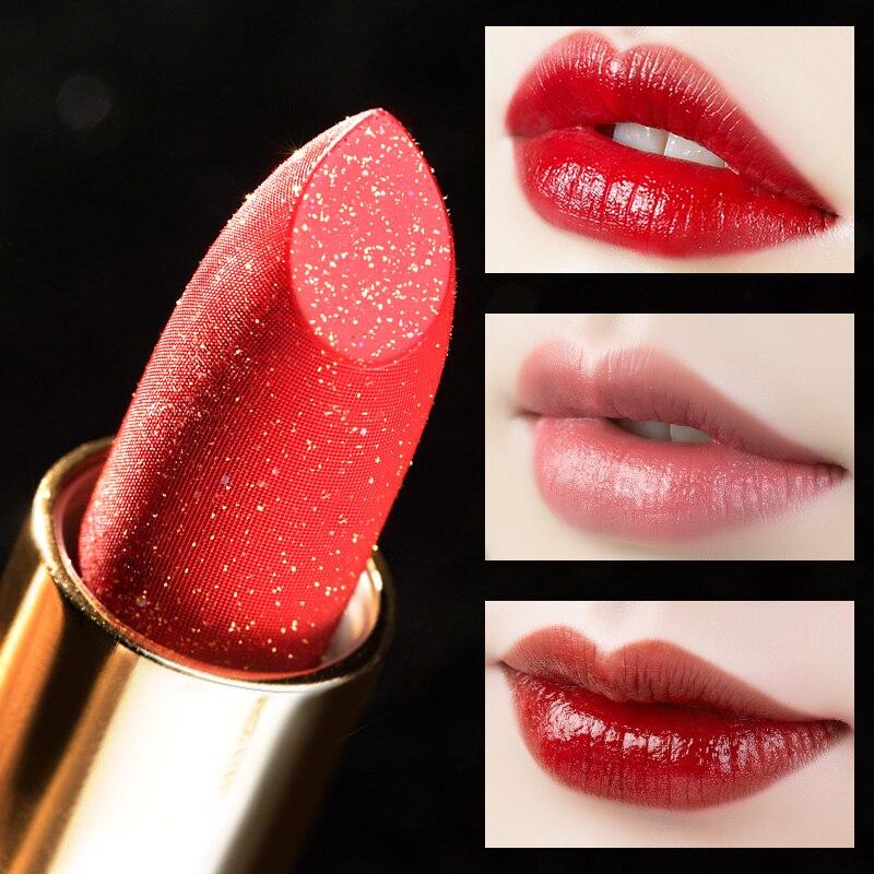 ILISYA Elegante Wasserdichte Lippenstift Hohe Qualität Lip Makeup Shimmer Langlebige Nude Lip Care Klassischen Chinesischen Stil