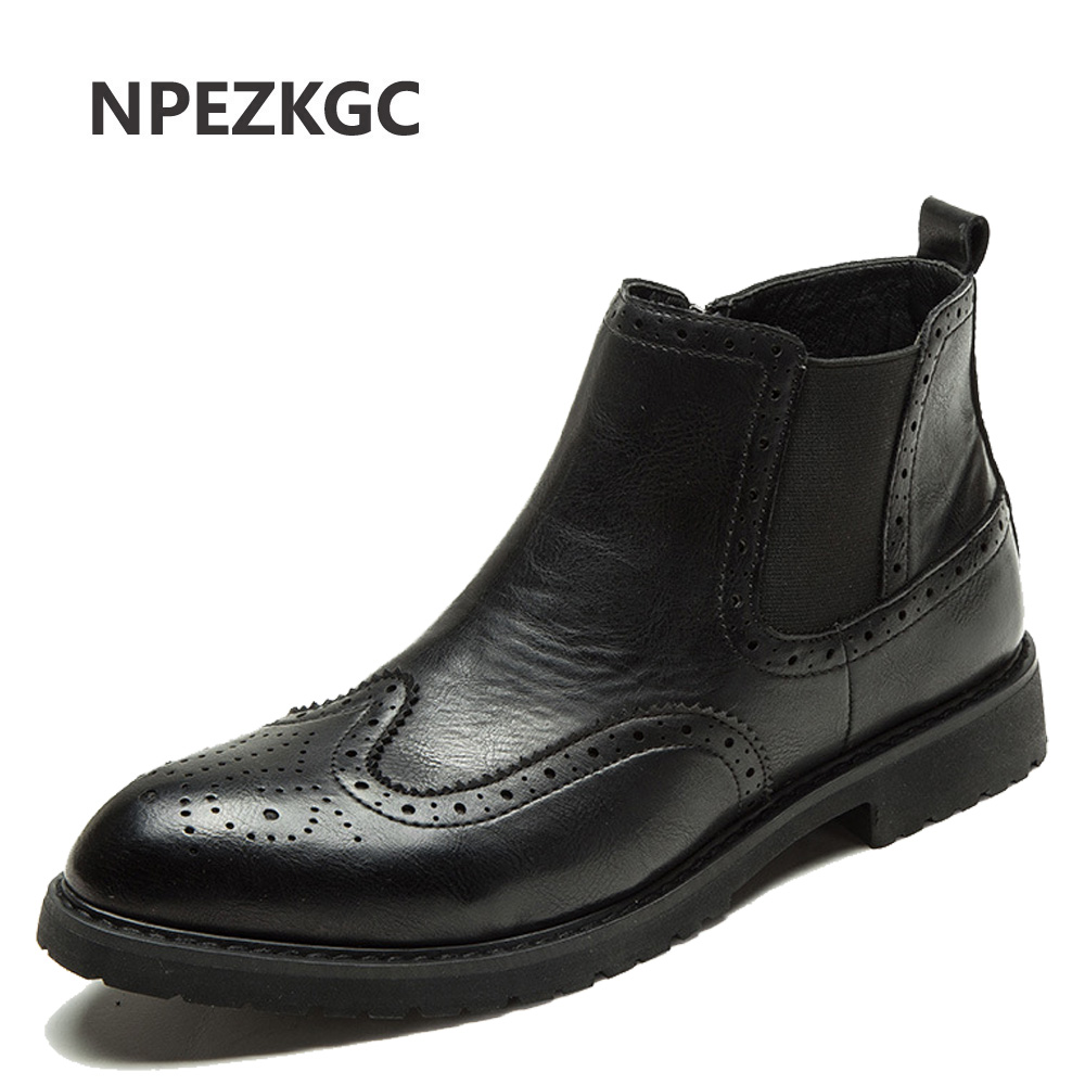 US $64.08 |NPEZKGC Autumn Winter Genuine Leather Ankle Chelsea Boots Men Shoes With Vintage Classic Male Casual Motorcycle Boot in Chelsea Boots from