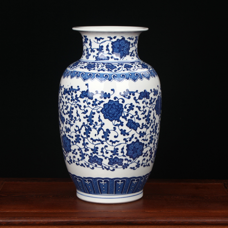 Aliexpress Buy Antique Chinese Blue And White Porcelain Vases