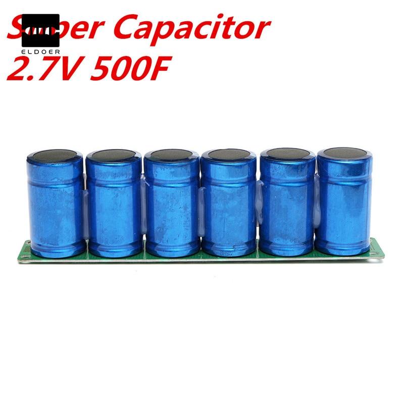 1 шт. фарад конденсатор В 2,7 в 500F супер конденсатор с В защитой доска конденсаторы 16 23x3,5x6 см электронные поставки