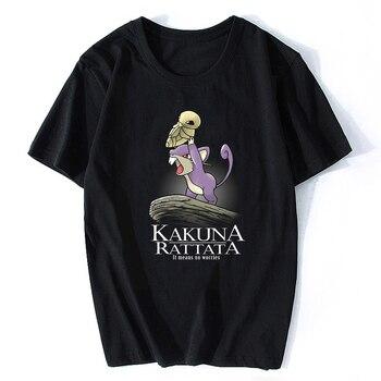 Camiseta Kakuna Rattata Pokemon para hombre, de manga corta Camiseta de algodón, cuello redondo de moda, ropa de calle Ulzzang, camisetas de Rock estéticas divertidas