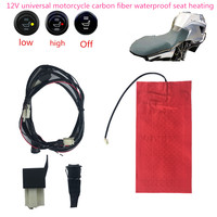 12v atv utv E-BIKE interruptor redondo  de fibra de carbono à prova d'água  aquecedor de assento  almofada aquecida