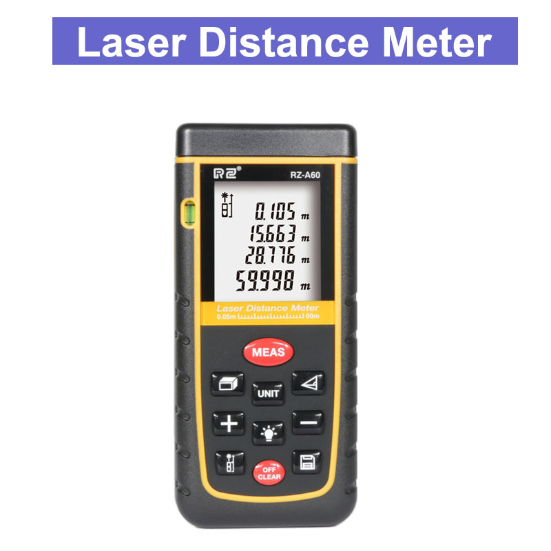 цена на Factory Wholesale RZA60 Digital Laser Rangefinder Area Volume Calculation Laser Distance Meter Optical Type Measure 40m/60m/80m