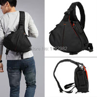 Camera Bag Case Caden K1 Waterproof Messenger Shoulder Bag Video Portable Diagonal Triangle Carry Case Black