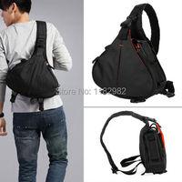 Camera Bag Case Caden K1 Waterproof Messenger Shoulder Bag Video Portable Diagonal Triangle Carry Case Black