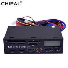 Chipal multifuncional usb 3.0 painel frontal 5.25