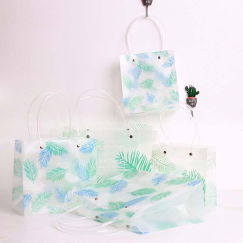 Waterproof Multifunctional Plant tree leaf Storage Bag candy Sundries Container shopping Travel Bags Package PVC Storage bag 1PC