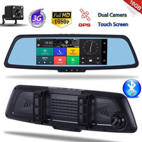 Car GPS Mirror DVR Camera 7 Android 3G Bluetooth Full HD 1080P Video Recorder Reaview Mirror