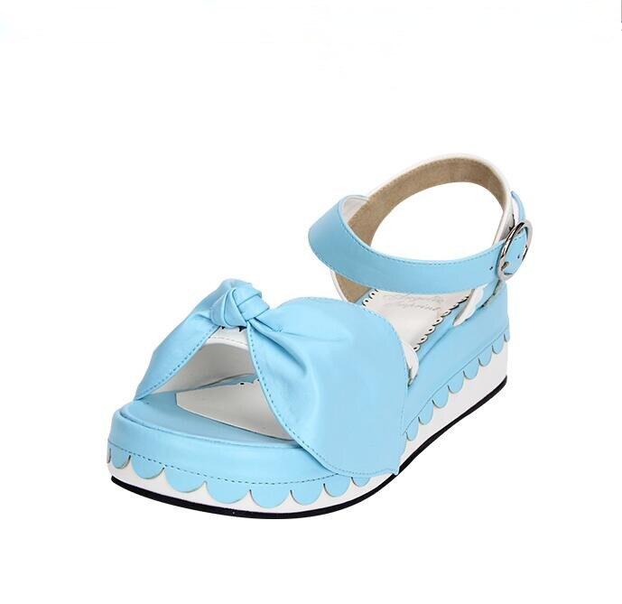 Bögen Schuhe Dame Frauen 33 Kleid Trifle Frau Lolita Pumps 47 Blau Angelic Mori Mädchen Heels Cosplay Sandalen Schnalle Impressum Prinzessin Hohe n7xY0wqaH