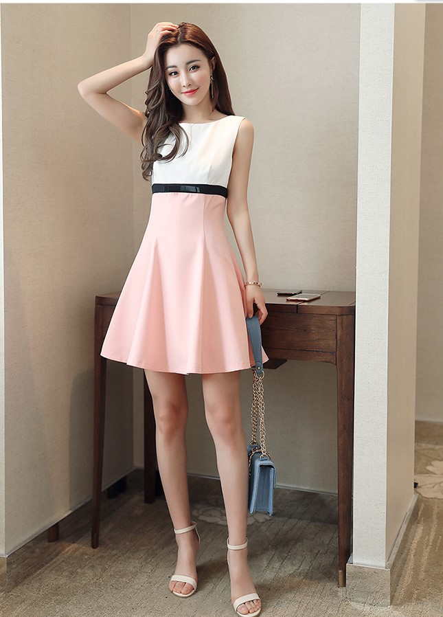 girls casual summer fashion light pink dresses school ...