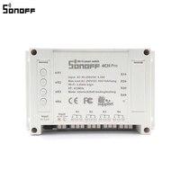 Sonoff 4CH Pro Smart Home RF Wifi Light Switch 4 Gang 3 Working Modes Inching Interlock