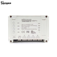 Sonoff 4CH Pro Smart Home RF Wifi Light Switch 4 Gang 3 Working Modes Inching Interlock