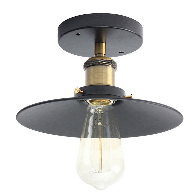 E27 Vintage Ceiling Light Industrial Copper Ceiling Lamp Holder With Light socket Set For Living Room Bedroom 110-220V copper bathroom shelf basket soap dish copper storage holder silver