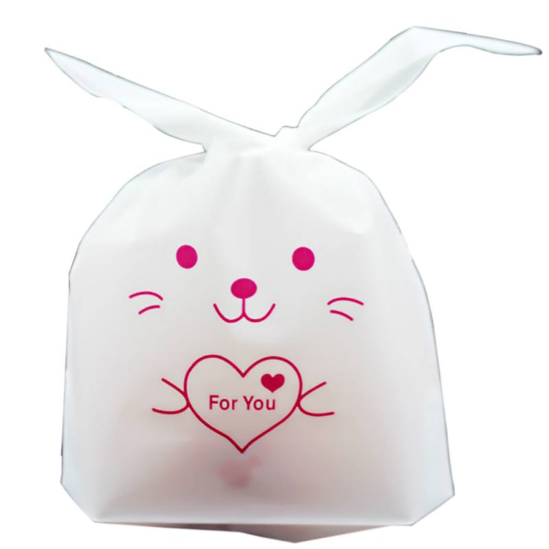 Cookie Gift BagCute Bunny Pattern Candy Holders Thanksgiving Easter Candy Packaging Bag Cookies OPP Bag for Holiday Supply 50pc