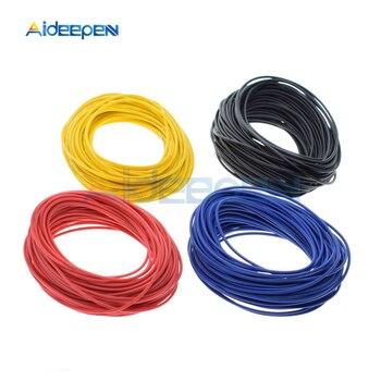 10 metros Cable de UL-1007 24AWG PVC aislado Cable eléctrico gancho Cable 300V rojo/negro/azul/amarillo