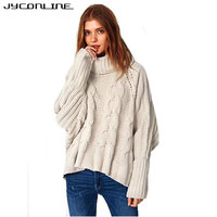 JYConline Turtleneck Knitted Pullover Sweater Women Pull Femme Streetwear Soft Jumper Autumn Winter Warm Knitting Sweater