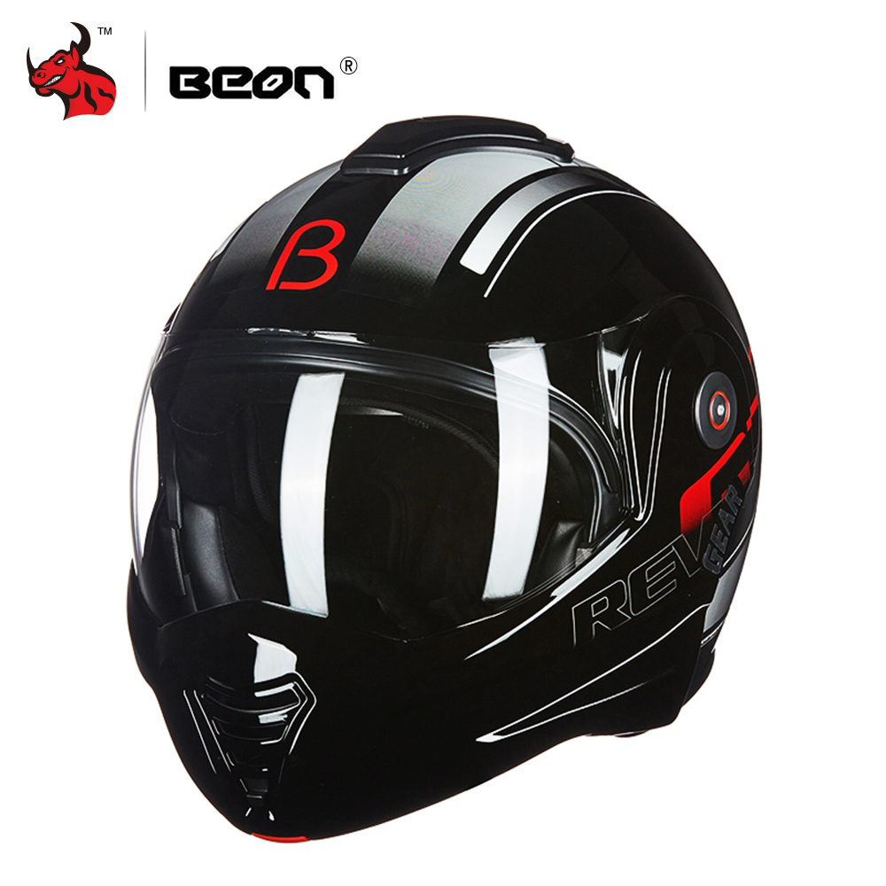 BEON Motorcycle Helmet Touring Motorbike Helmet Racing Street Moto Casco Men Women Chopper Scooter Cruiser Full