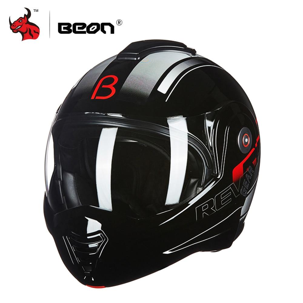 BEON Moto Casque Touring Moto Casque Racing Rue Moto Casco Hommes Femmes Chopper Scooter Cruiser Casque Intégral