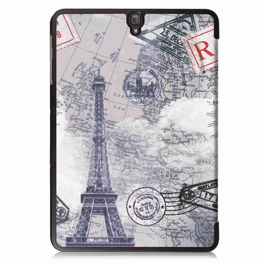 New Colorful Pattern Smart PU Leather Cover Funda Case For Samsung Galaxy Tab S3 T820 T825 9.7