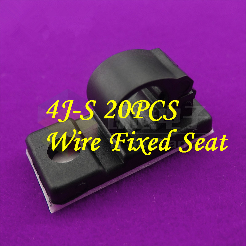 20PCS  YT438   Cable Clamp  4J-S  Wire Fixed Seat   Stick Type Clamp   Viscose Fixed Screw Holes  Cable Clamp  4J-S