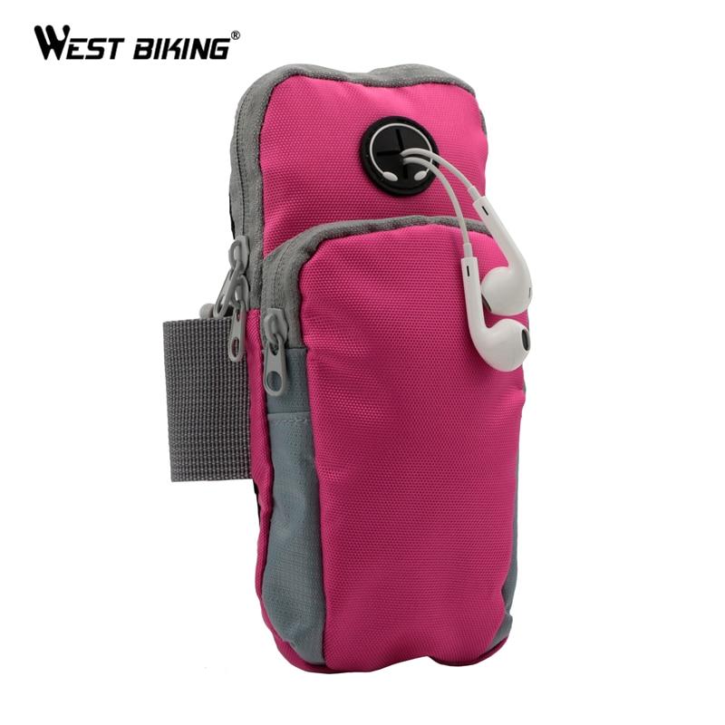 Запад biking 8 дюймов Бег бег тренажерный зал защитный телефон сумка Спорт наручные сумка рука Сумки открытый Водонепроницаемый Велоспорт Вел...
