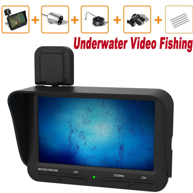20M Cable Ice Finder Underwater Fishing Camera 6 IR Leds Cctv camera Video DVR 4.3 Inch monitor Dual Lens EYOYO