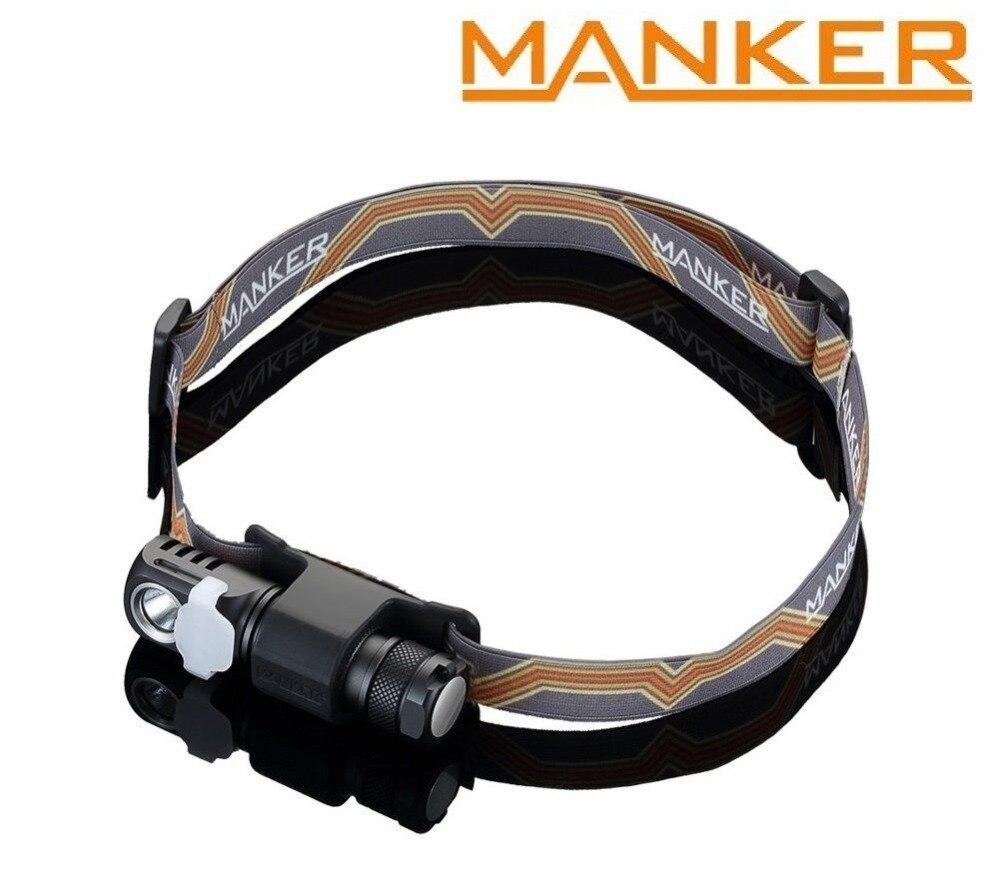 Manker E03H AA Projecteur 350LM CREE XP-L/Nichia 219C LED Phare Angle lampe de poche Avec Bandeau, Aimant Queue, réversible Clip