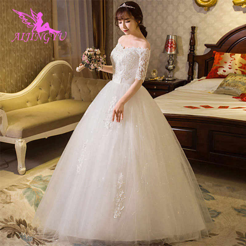 ca43b9b18ce08 Detail Feedback Questions about AIJINGYU dresses wedding 2018 bride ...